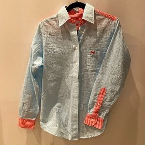 Fraternity Collection Seersucker Plaid Button Down
